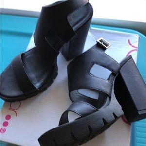 Sugar black platform shoes